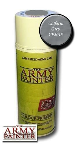 Army Painter Spray Can Primer - Uniform Grey - available at The Games Den