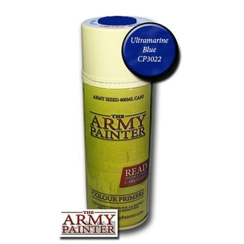 Army Painter Spray Can Primer Ultramarine Blue - available at The Games Den