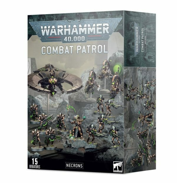 Games Workshop Warhammer 40,000 Necrons Combat Patrol set tabletop games miniature figures