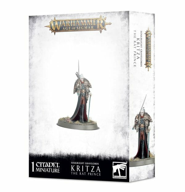 Games Workshop Warhammer Age Of Sigmar Soulblight Gravelords Kritza The Rat Prince tabletop miniature figure